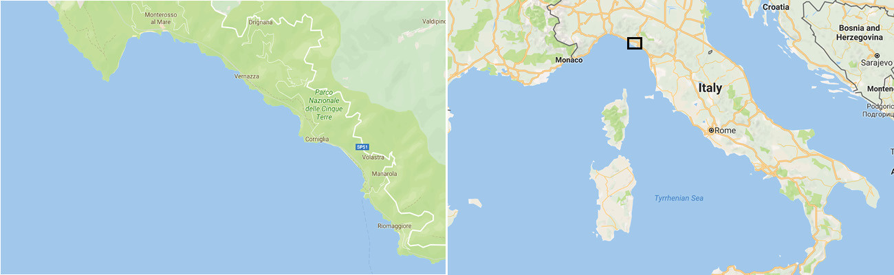 Riomaggiore Italy Map.Cinque Terre Travel Honey
