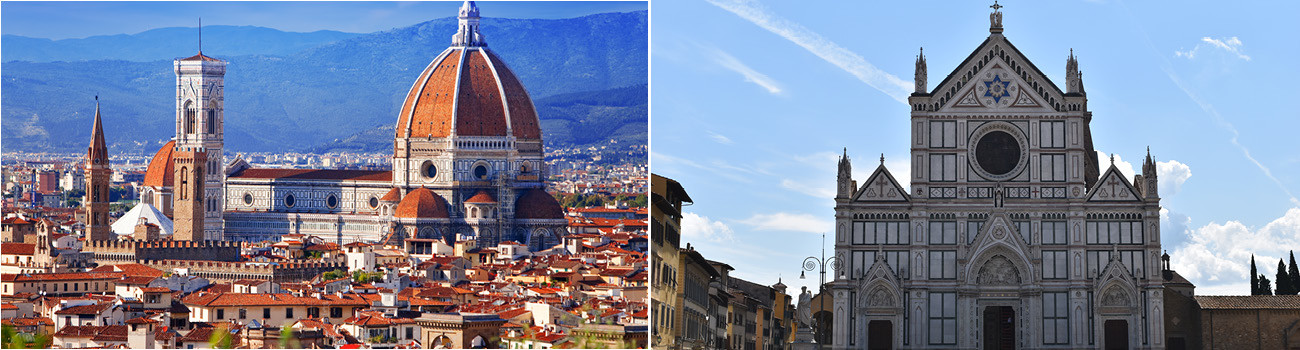 Florence-Italy-Duomo-and-Piazza-Santa-Croce-2Panel-Itinerary