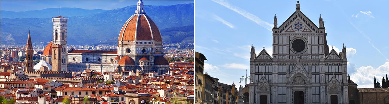 Florence-Italy-Duomo-and-Piazza-Santa-Croce-2Panel-Itinerary