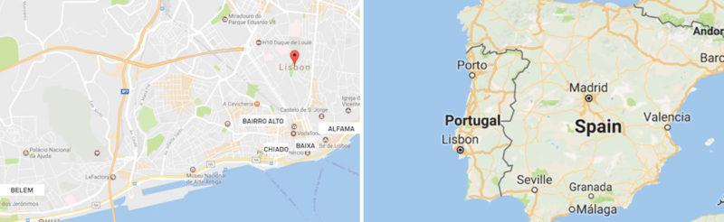 Lisbon-Portugal-Neighborhood-Maps-2Panels-Itinerary