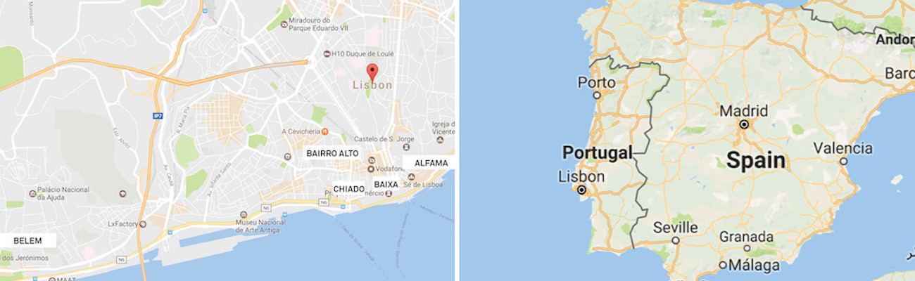 Lisbon Travel Honey - Lisbon portugal neighborhoods map
