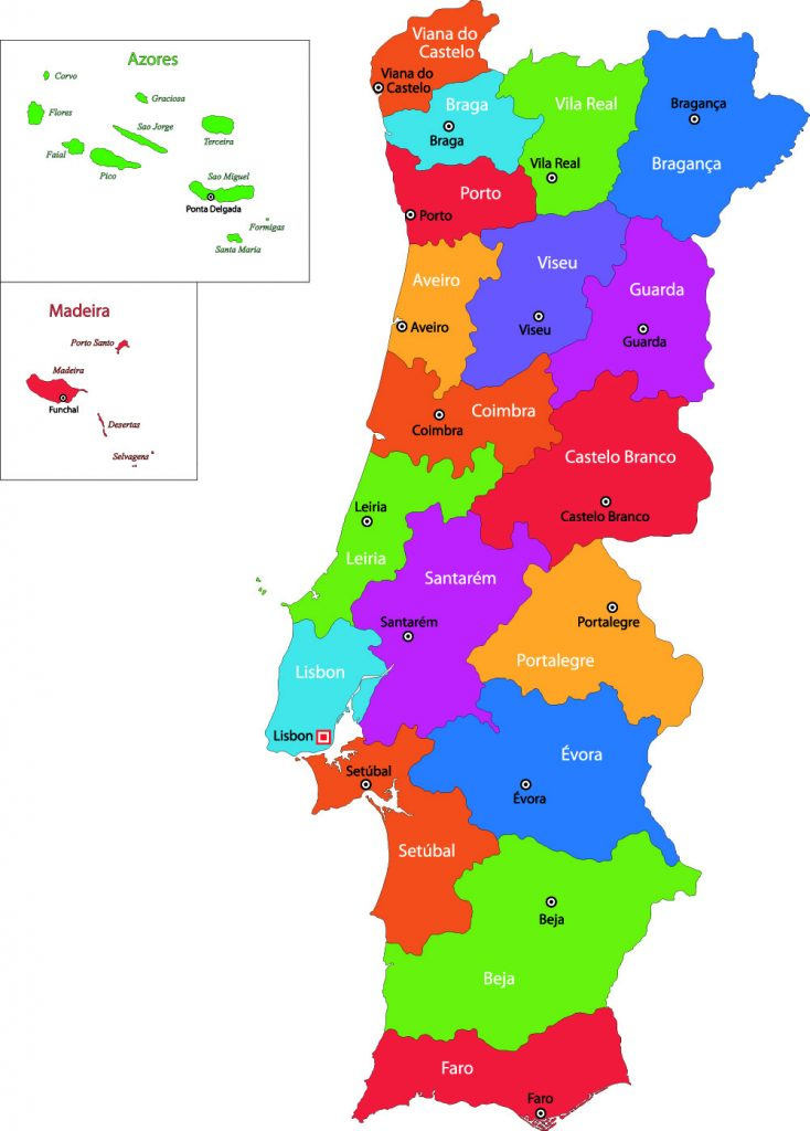 Portugal Region Map