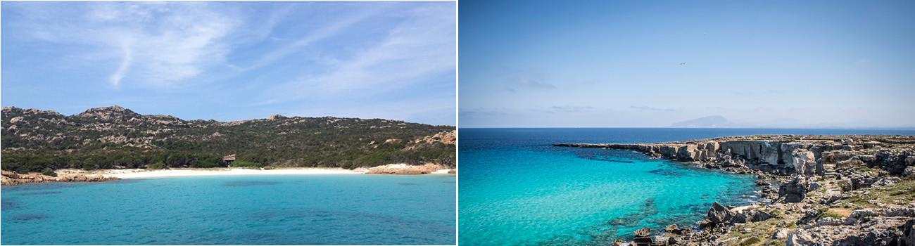 Sardinia-Beach-Italy-and-Favignana-Sicily-Italy-2Panel-Itinerary