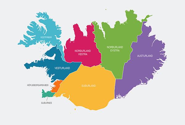 Iceland-Regional-Map