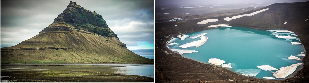 Viti-Crater-Lake-in-North-Iceland-and-Kirkjafell-Mountain-in-West-Iceland-2Panel-Itinerary