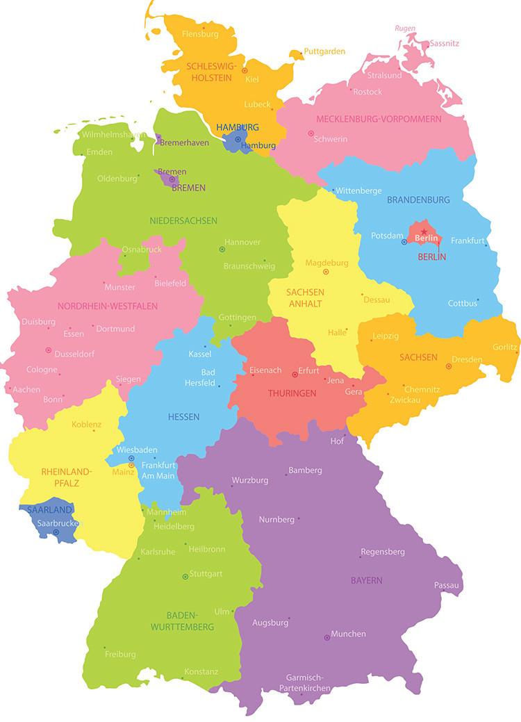 regional map of germany